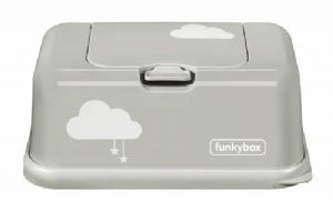 Funkybox tissue / wipe dispenser - Misty Grey Cloud